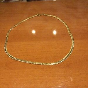 "Mens ""Jax"" 18K REAL Gold Plated 6mm Curb Chain"